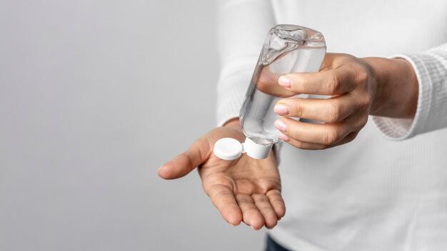 lavado de manos o gel antibacterial